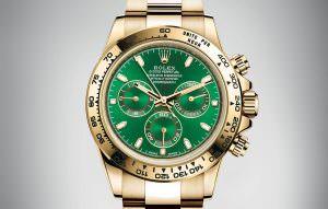 Rolex Daytona 18k green dial