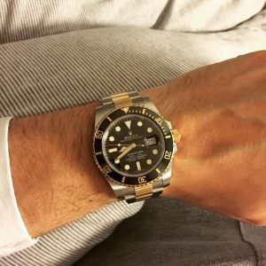 Rolex 116613ln Wrist Shot Edinburgh Watch Company Luxury Timepieces