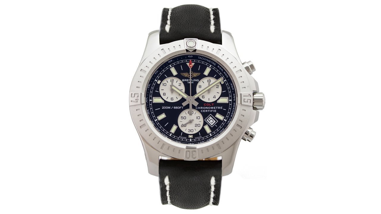 breitling colt chronograph quartz edinburgh watch company luxury timepieces. Black Bedroom Furniture Sets. Home Design Ideas