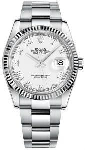 Rolex 116234 white roman